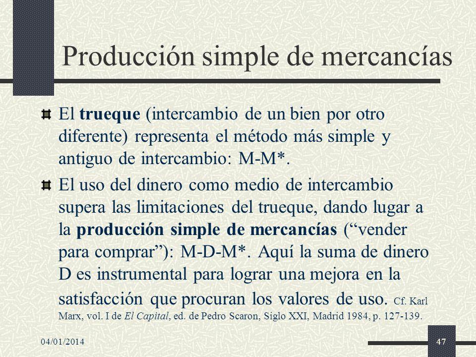 Producción simple de mercancías