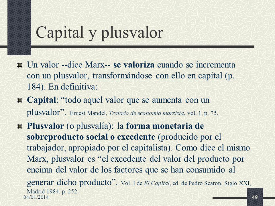 Capital y plusvalor