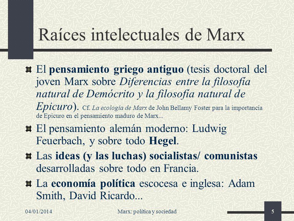 Raíces intelectuales de Marx