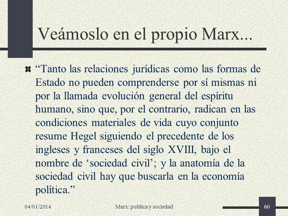 Veámoslo en el propio Marx...