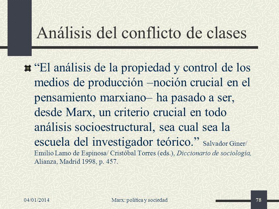 Análisis del conflicto de clases