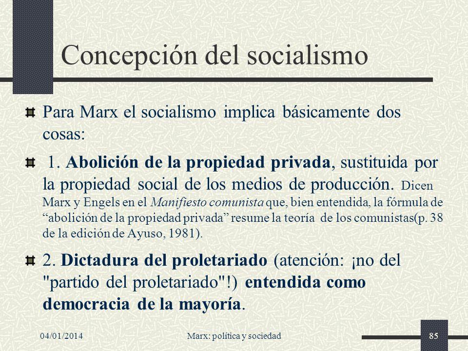 Concepción del socialismo