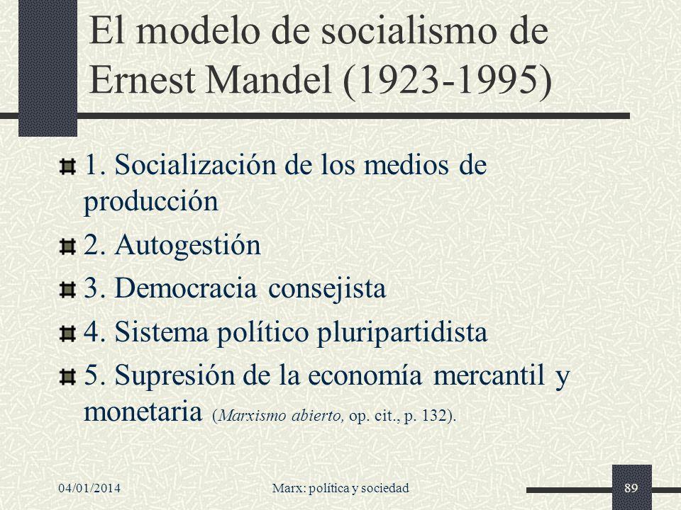 El modelo de socialismo de Ernest Mandel (1923-1995)