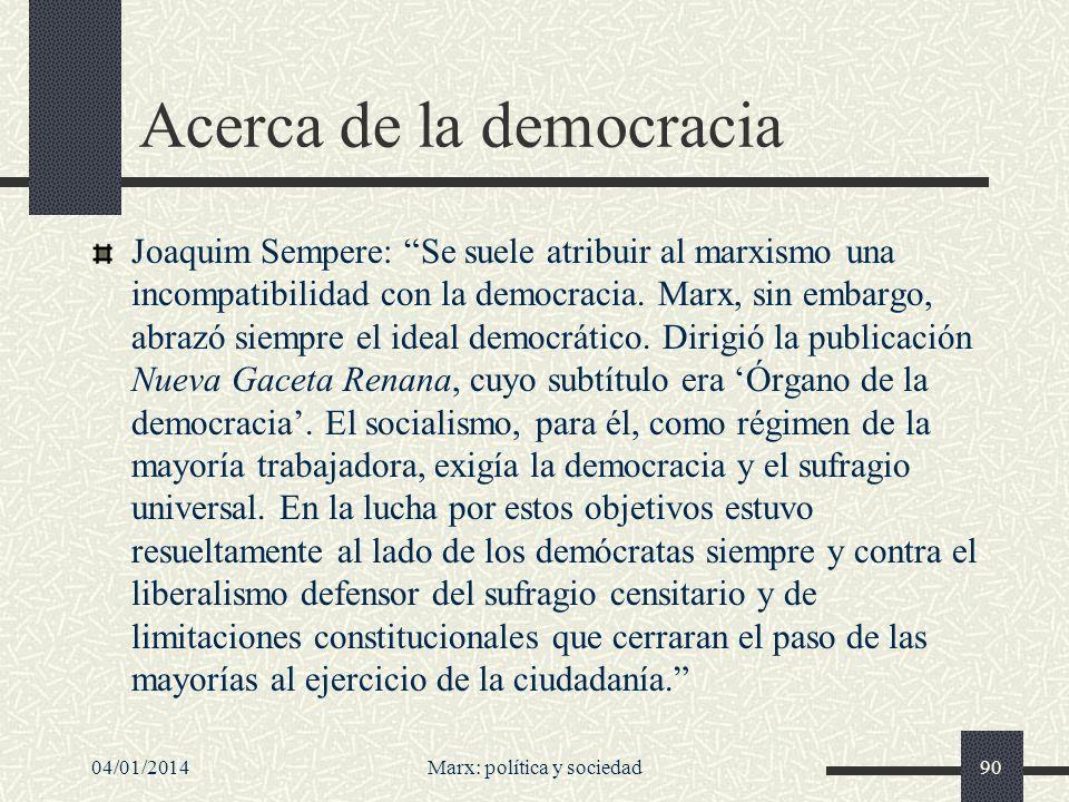 Acerca de la democracia