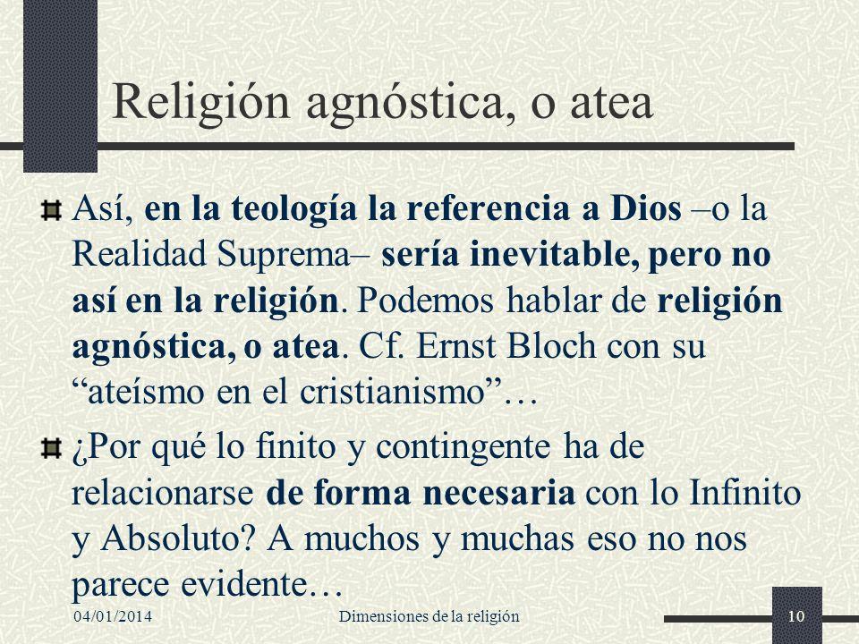 Religión agnóstica, o atea