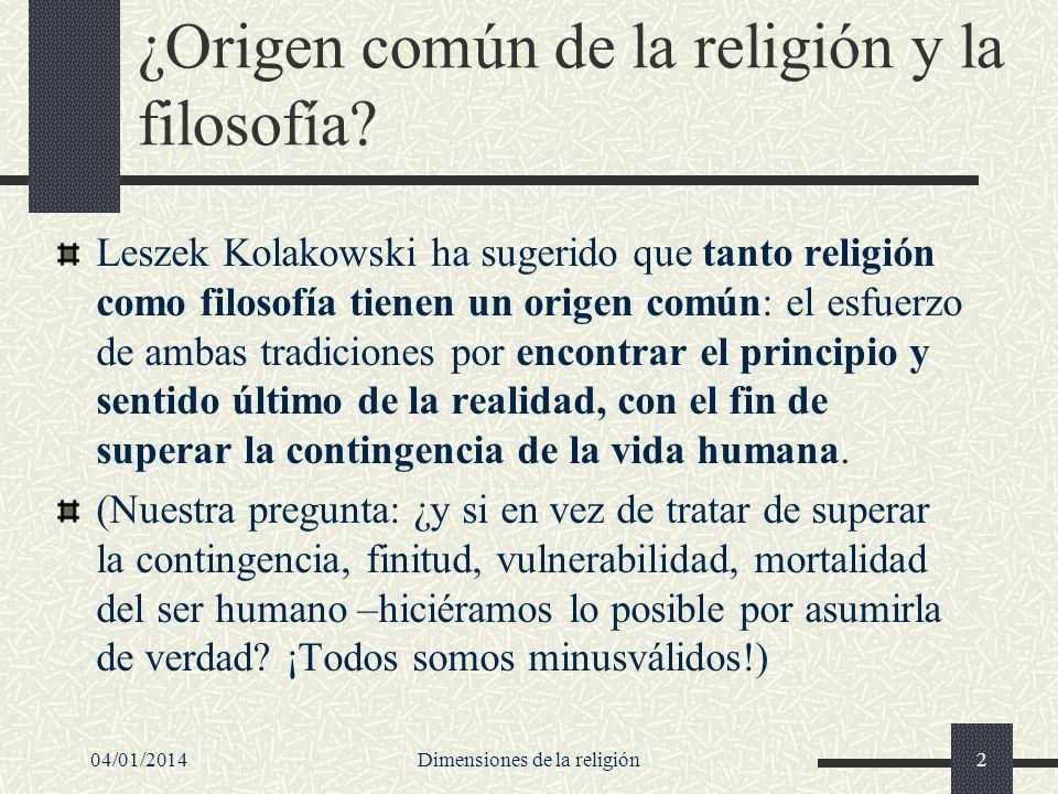 ¿Origen común de la religión y la filosofía