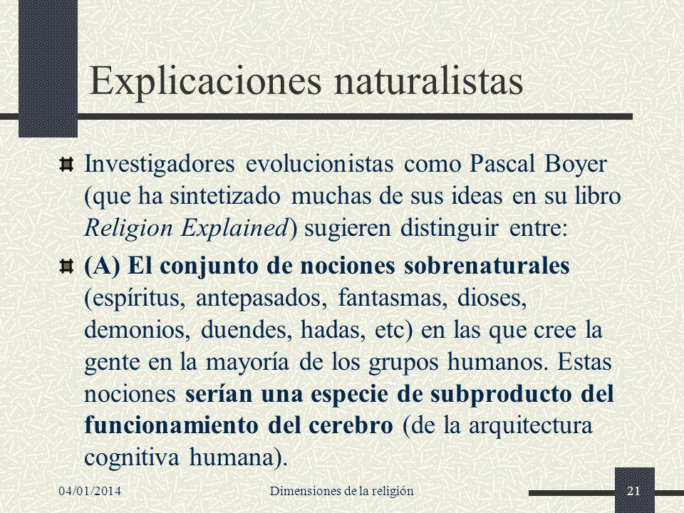 Explicaciones naturalistas