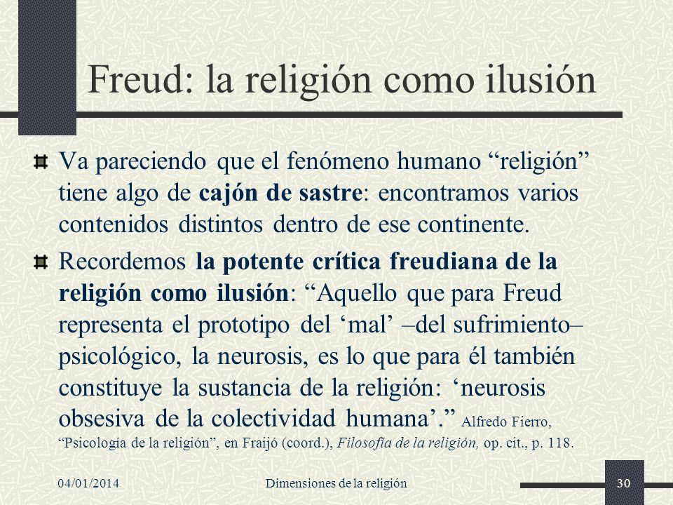 Freud: la religión como ilusión