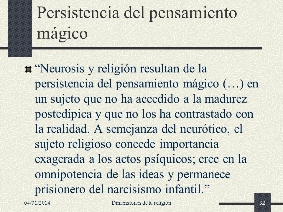 Persistencia del pensamiento mágico