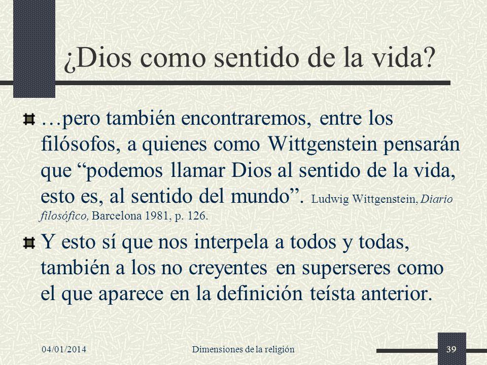 ¿Dios como sentido de la vida