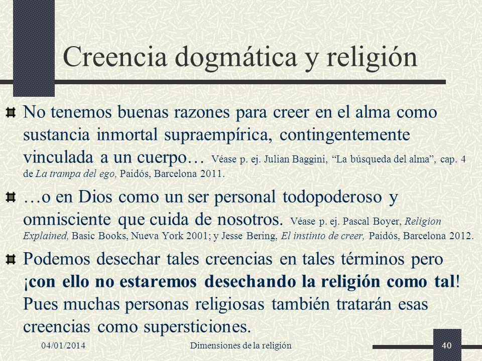 Creencia dogmática y religión