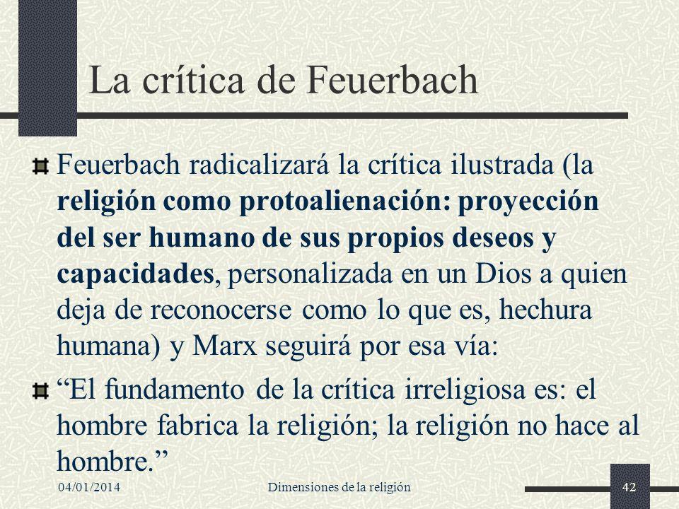 La crítica de Feuerbach