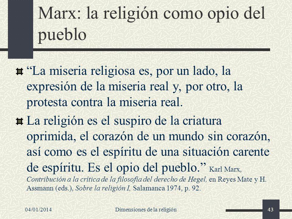 Marx: la religión como opio del pueblo