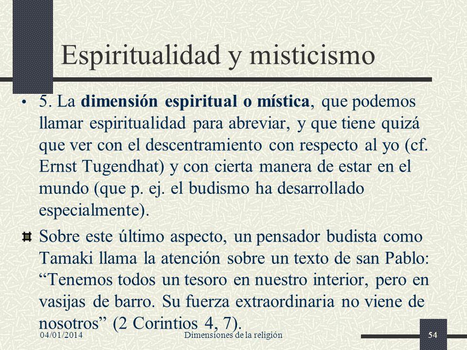 Espiritualidad y misticismo