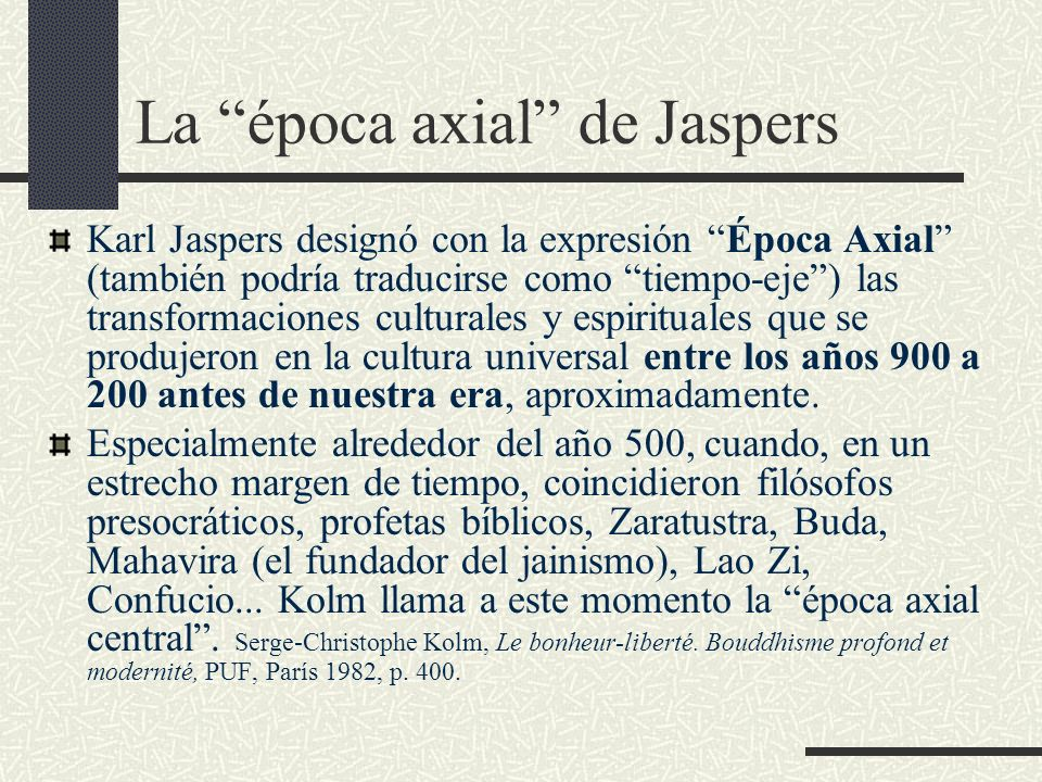 La época axial de Jaspers