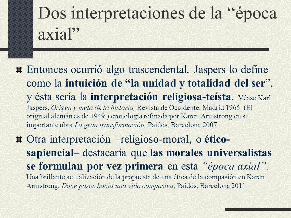 Dos interpretaciones de la época axial