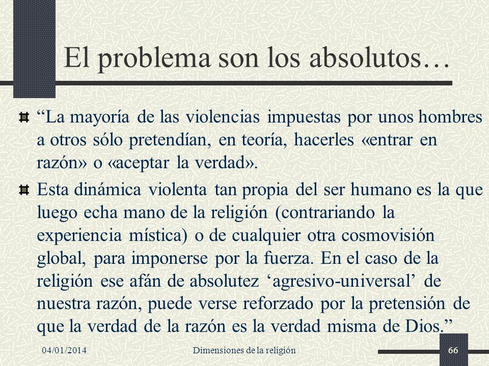 El problema son los absolutos…