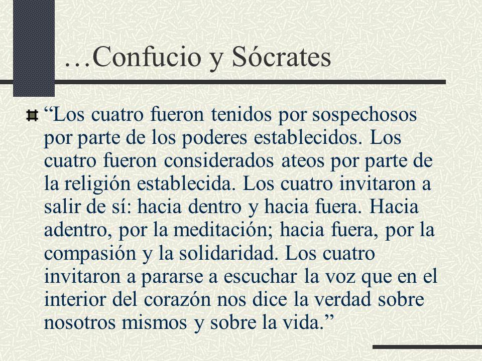 …Confucio y Sócrates