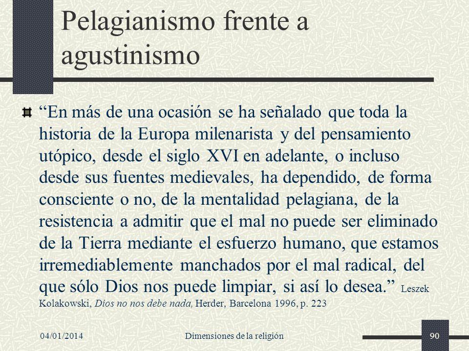 Pelagianismo frente a agustinismo