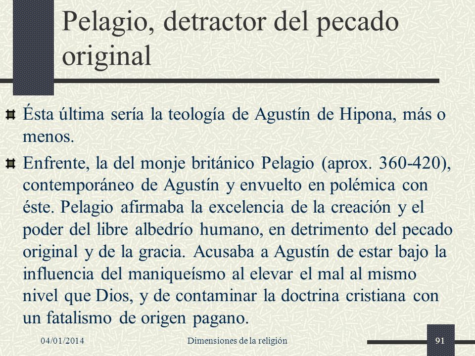 Pelagio, detractor del pecado original