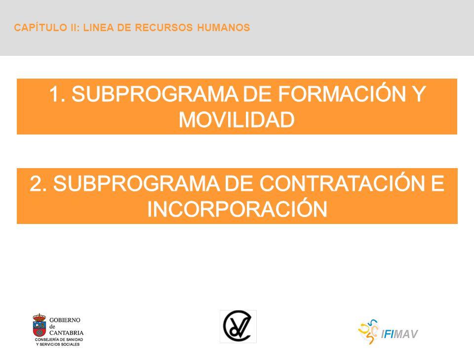 1. SUBPROGRAMA DE FORMACIÓN Y MOVILIDAD