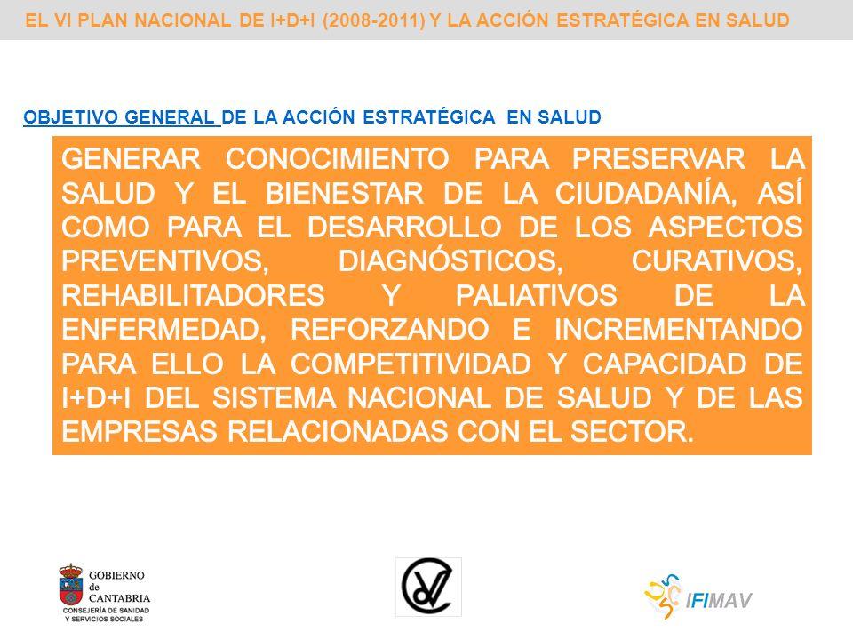EL VI PLAN NACIONAL DE I+D+I (2008-2011) Y LA ACCIÓN ESTRATÉGICA EN SALUD