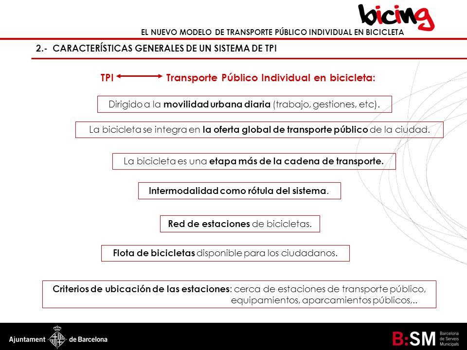 TPI Transporte Público Individual en bicicleta: