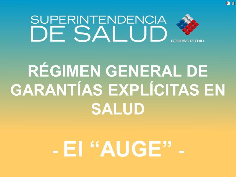 RÉGIMEN GENERAL DE GARANTÍAS EXPLÍCITAS EN SALUD