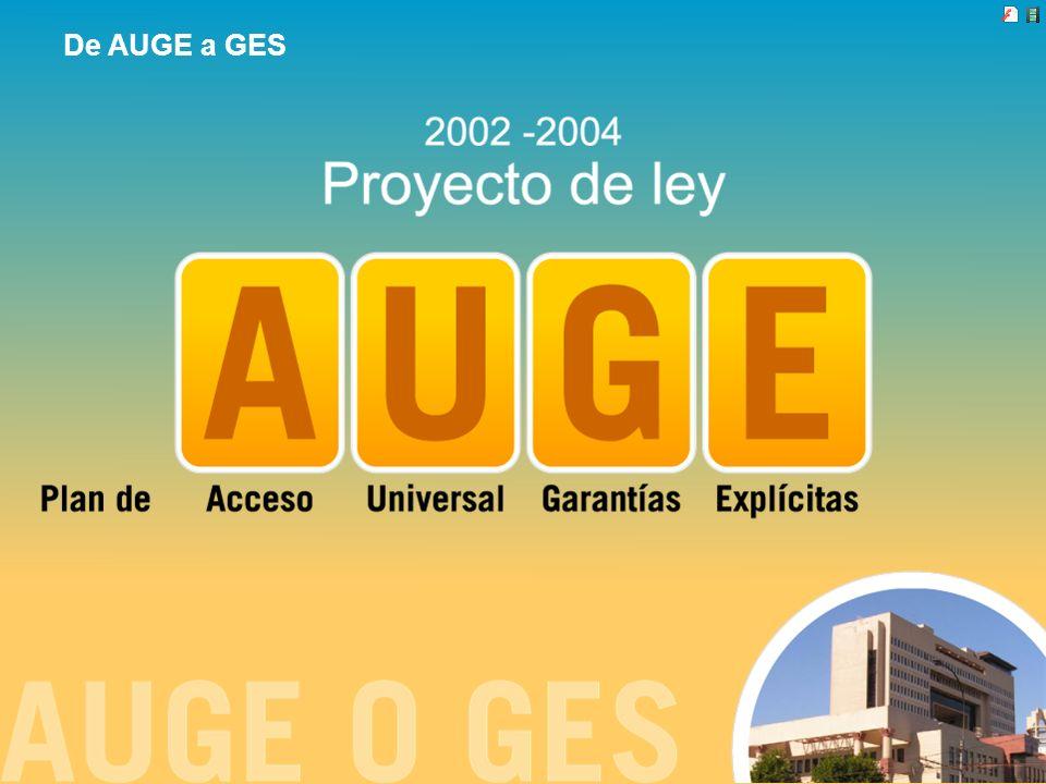 De AUGE a GES Revisemos la historia: El Auge era el proyecto de ley que apuntaba a crear un sistema especial de atención garantizada en salud.
