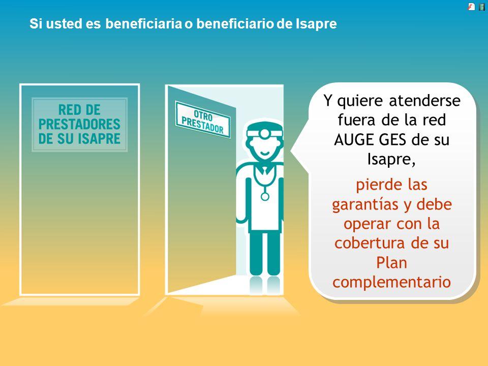 Si usted es beneficiaria o beneficiario de Isapre