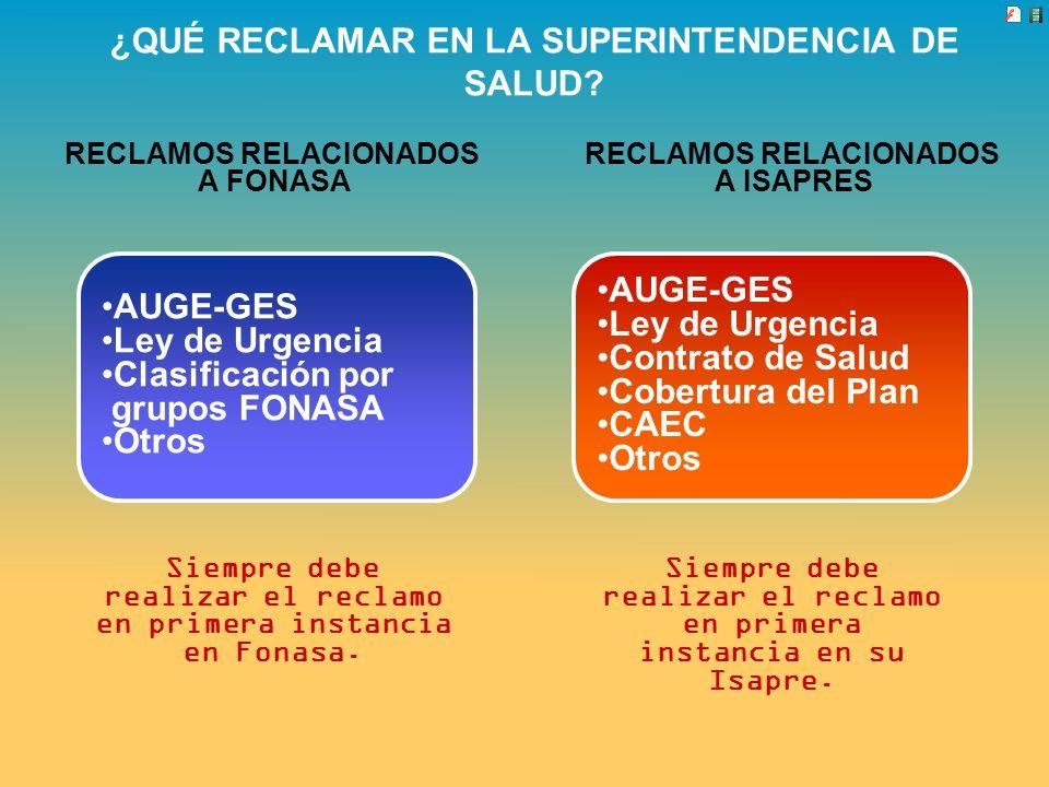 ¿QUÉ RECLAMAR EN LA SUPERINTENDENCIA DE SALUD