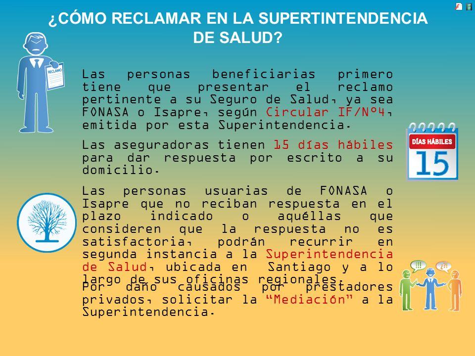 ¿CÓMO RECLAMAR EN LA SUPERTINTENDENCIA DE SALUD
