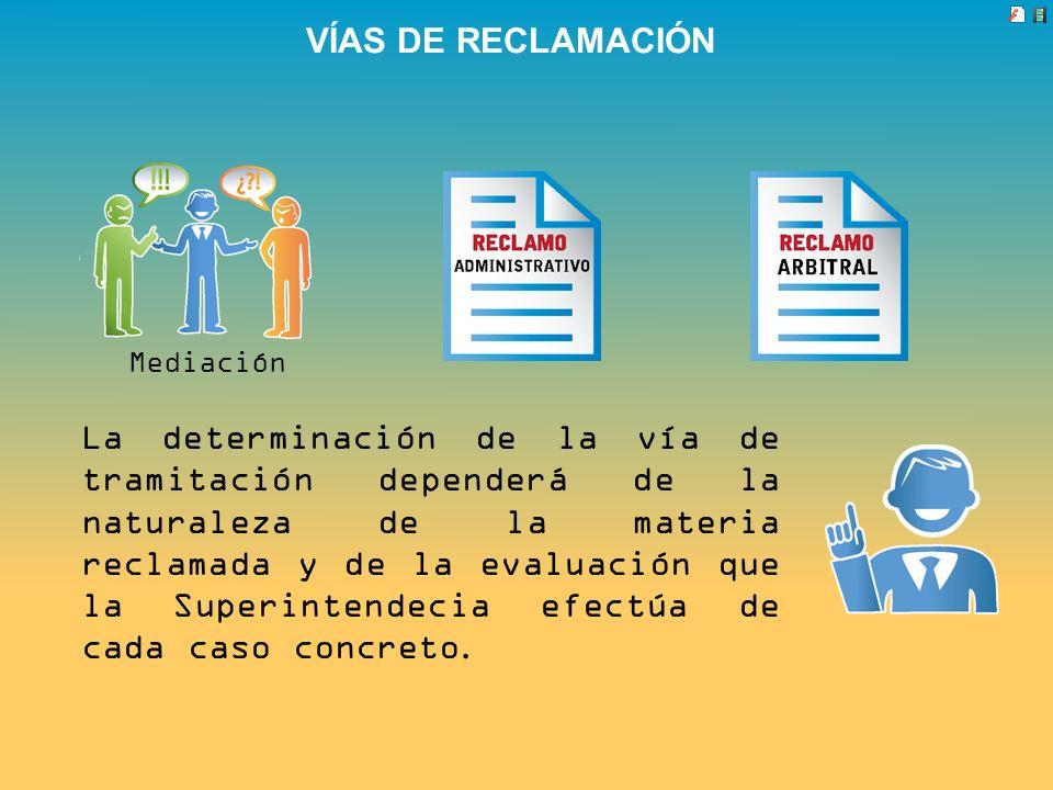 VÍAS DE RECLAMACIÓN Mediación.