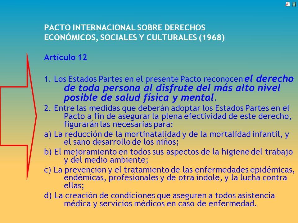 PACTO INTERNACIONAL SOBRE DERECHOS