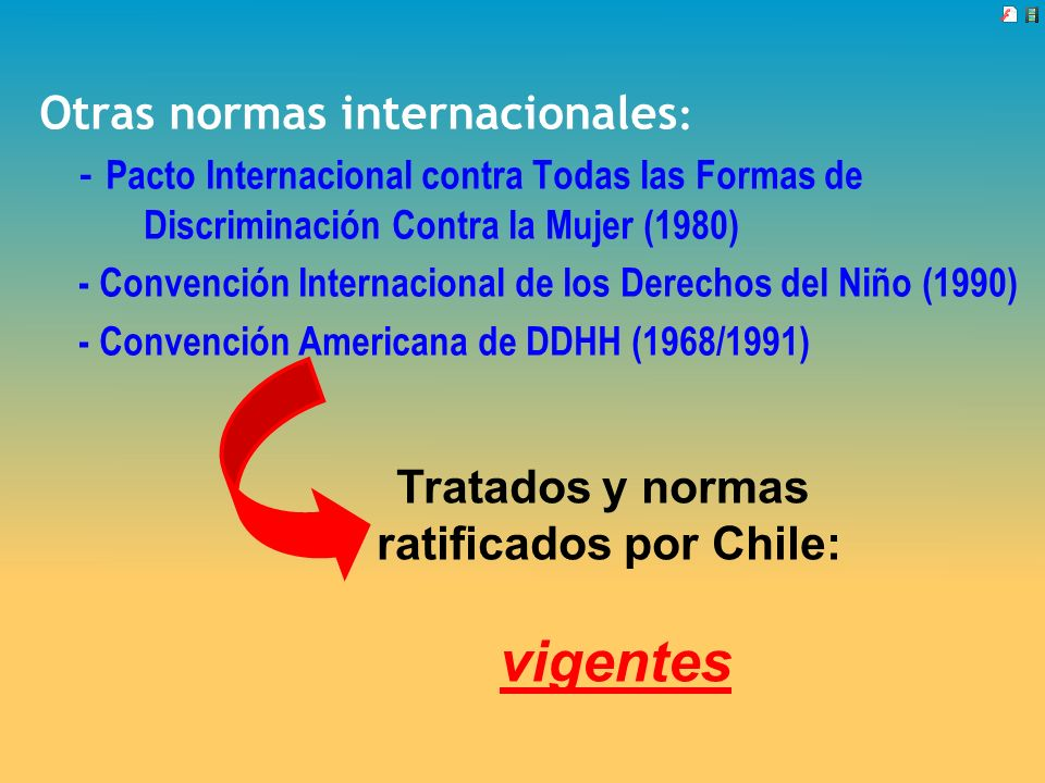 ratificados por Chile: