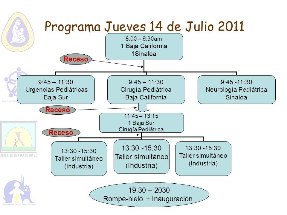 Programa Jueves 14 de Julio 2011