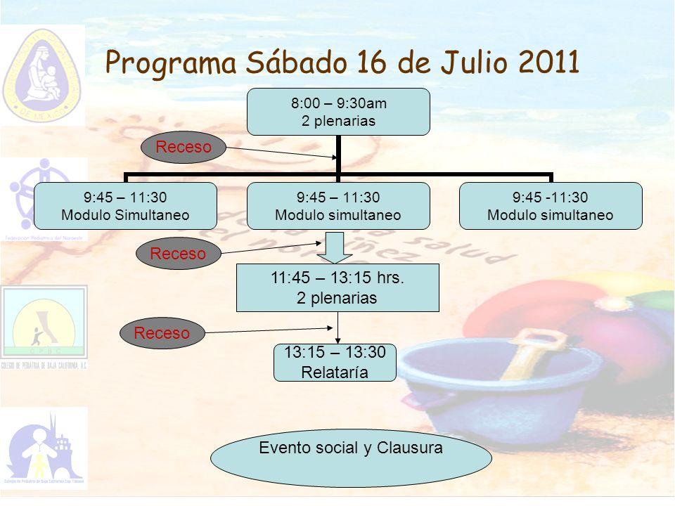 Programa Sábado 16 de Julio 2011