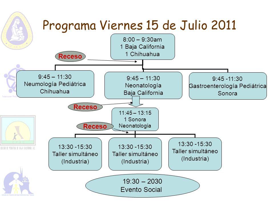 Programa Viernes 15 de Julio 2011