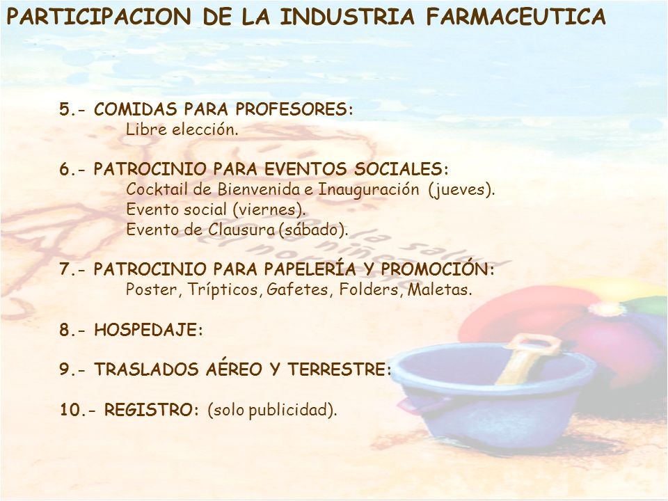 PARTICIPACION DE LA INDUSTRIA FARMACEUTICA