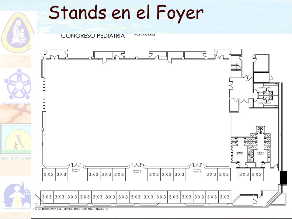 Stands en el Foyer
