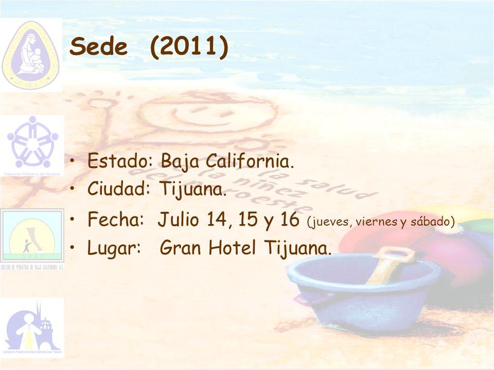 Sede (2011) Estado: Baja California. Ciudad: Tijuana.