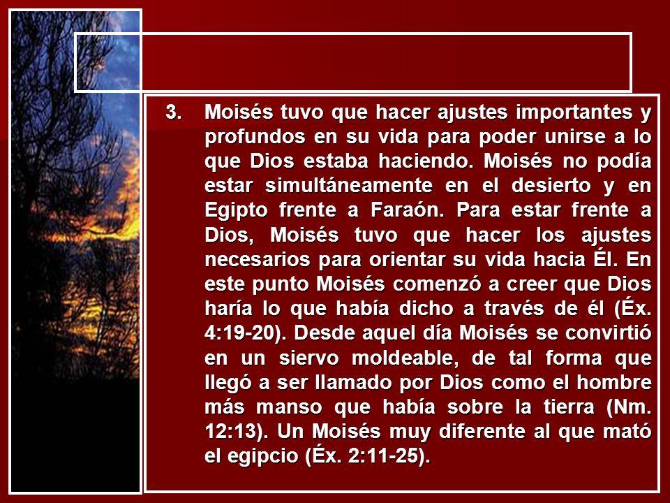 Moisés tuvo que hacer ajustes importantes y profundos en su vida para poder unirse a lo que Dios estaba haciendo.