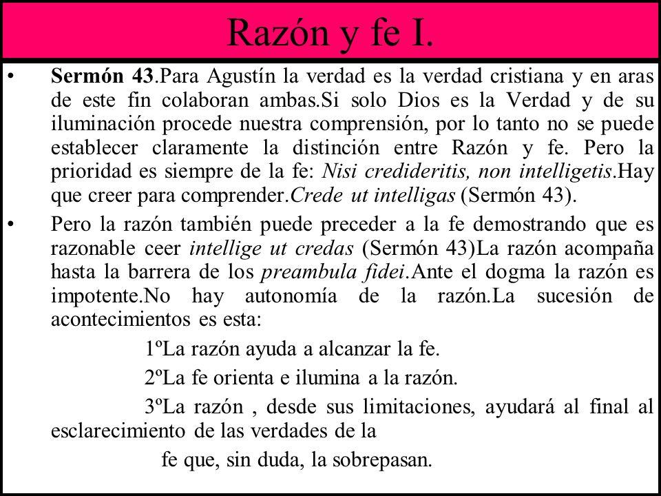 Razón y fe I.