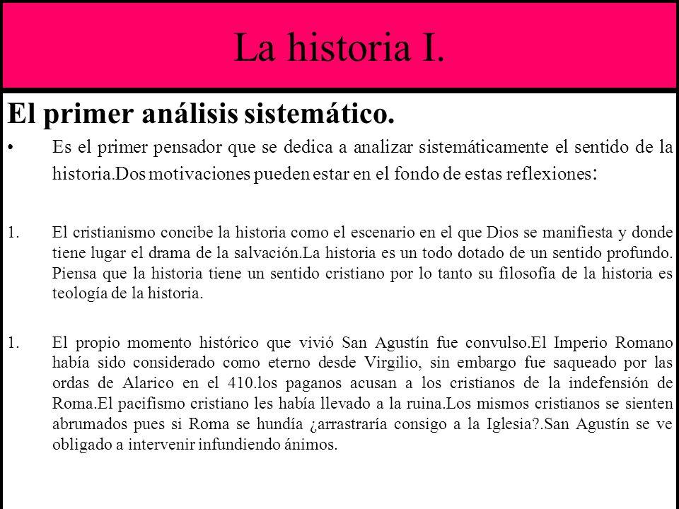 La historia I. El primer análisis sistemático.