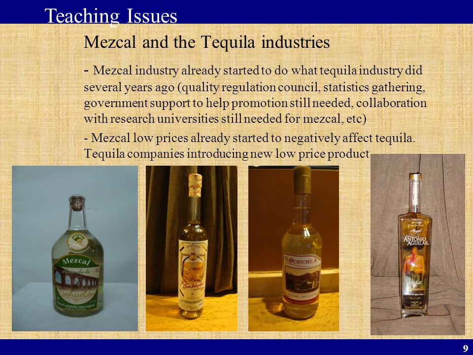 Teaching Issues Mezcal and the Tequila industries