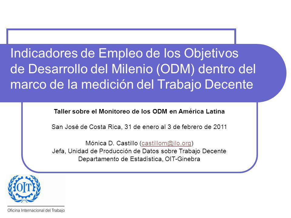 Taller sobre el Monitoreo de los ODM en América Latina