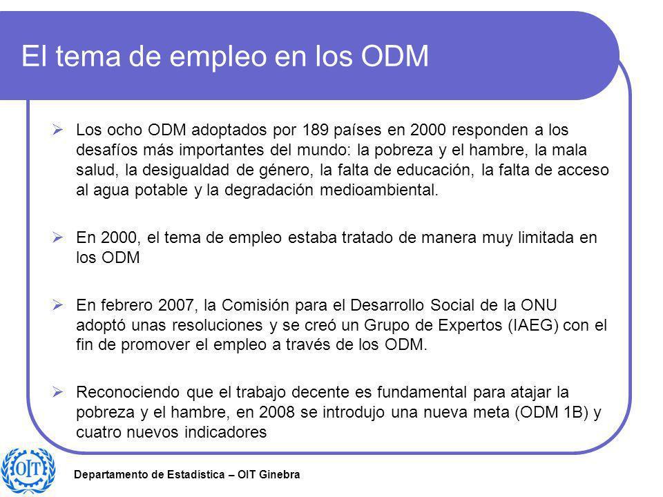 El tema de empleo en los ODM