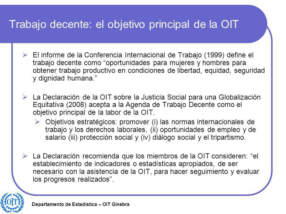 Trabajo decente: el objetivo principal de la OIT