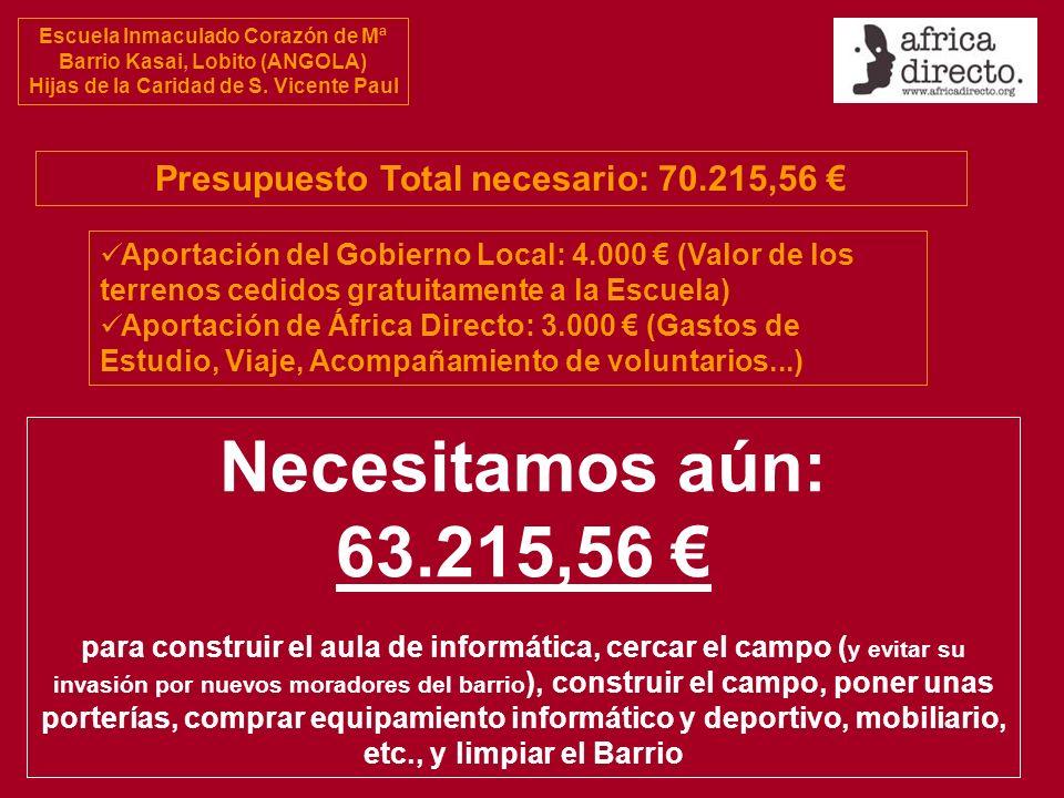 Presupuesto Total necesario: 70.215,56 €