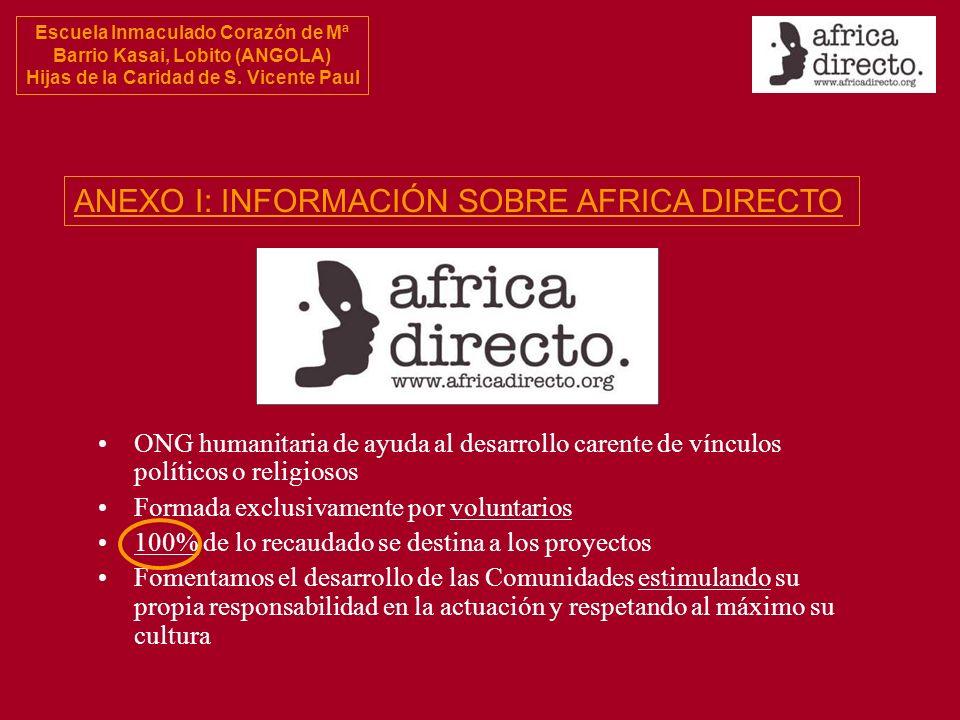 ANEXO I: INFORMACIÓN SOBRE AFRICA DIRECTO